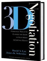 3-D negotiations book cover
