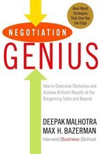 Cover of one othe best negotiation books Negotiation Genius by Deepak Malhotra