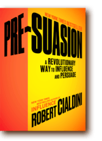 Cover of one othe best negotiation books Pre-Suasion by Robert Cialdini